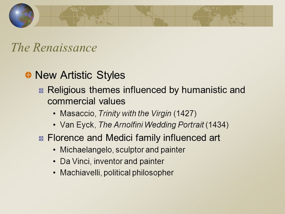 The Renaissance New Artistic Styles