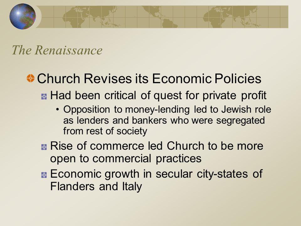 Church Revises its Economic Policies