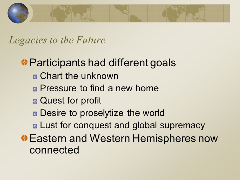 Participants had different goals