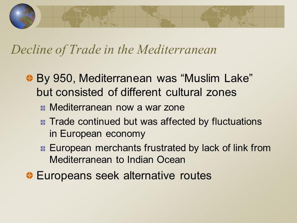 Decline of Trade in the Mediterranean