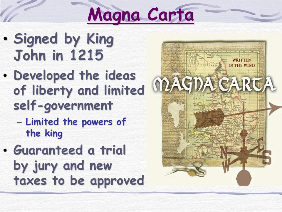 Magna Carta Signed by King John in 1215