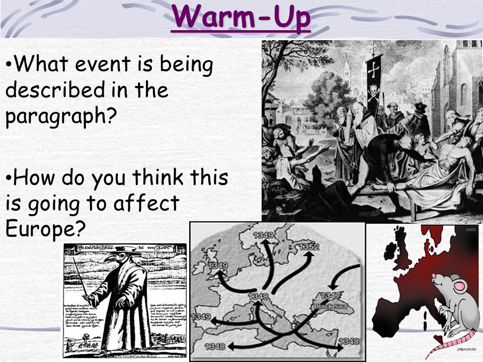 Warm-Up What event is being described in the paragraph