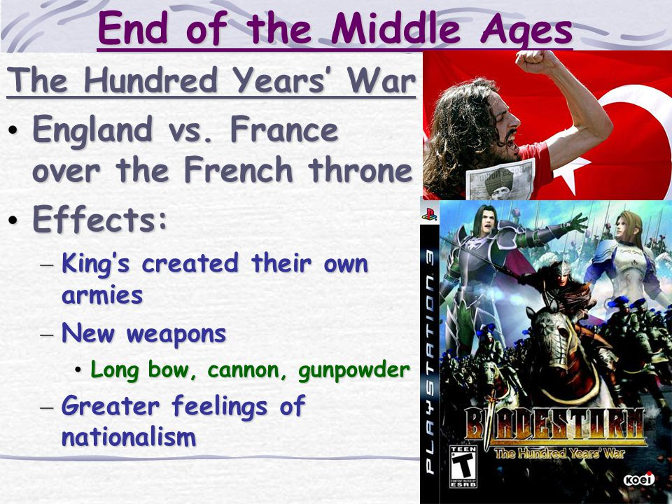 End of the Middle Ages The Hundred Years' War