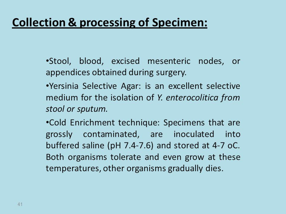 Collection & processing of Specimen: