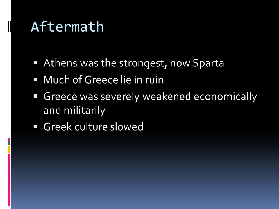 Aftermath Athens was the strongest, now Sparta