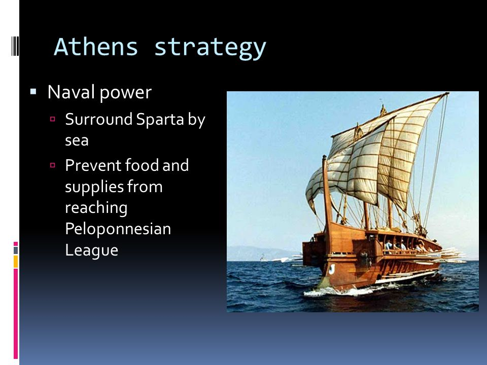 Athens strategy Naval power Surround Sparta by sea