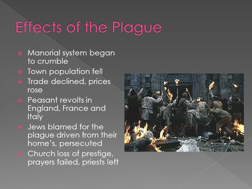 Effects of the Plague Manorial system began to crumble