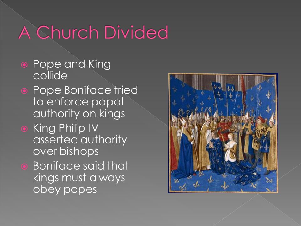 A Church Divided Pope and King collide