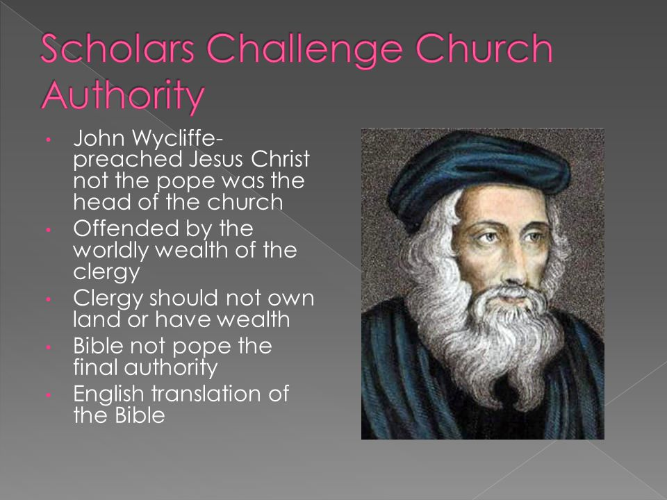 Scholars Challenge Church Authority