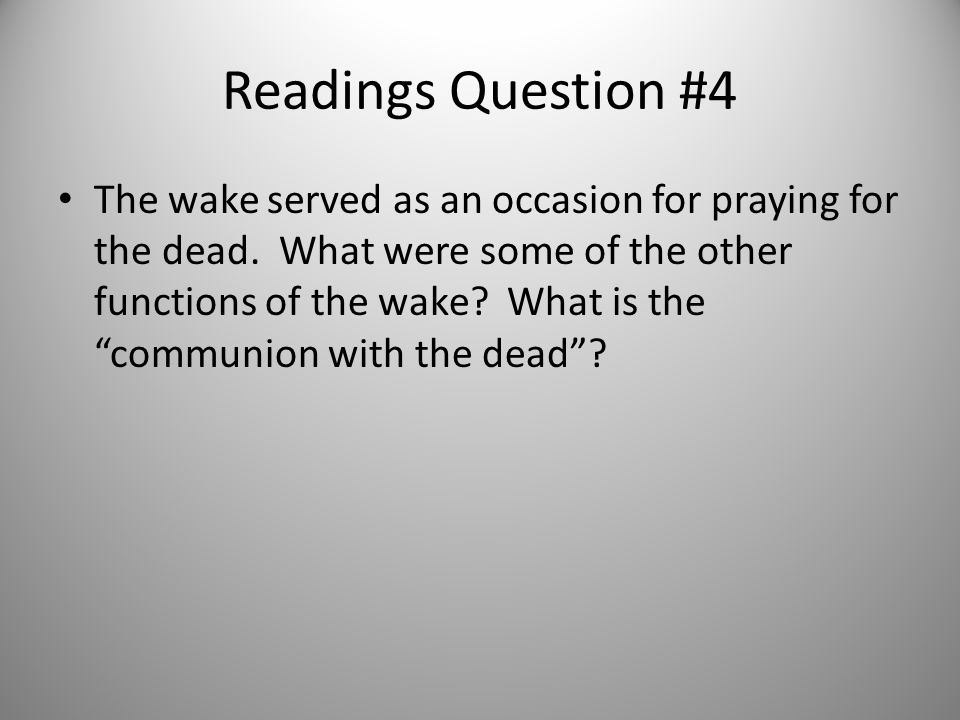 Readings Question #4