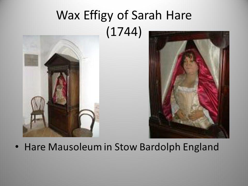Wax Effigy of Sarah Hare (1744)