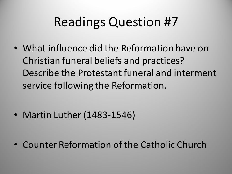 Readings Question #7