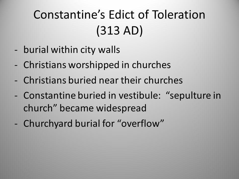 Constantine's Edict of Toleration (313 AD)