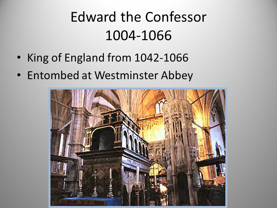 Edward the Confessor 1004-1066 King of England from 1042-1066