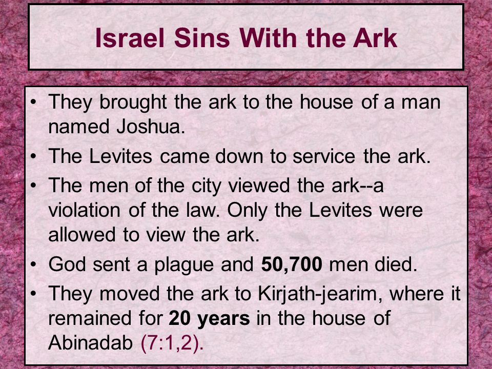 Israel Sins With the Ark