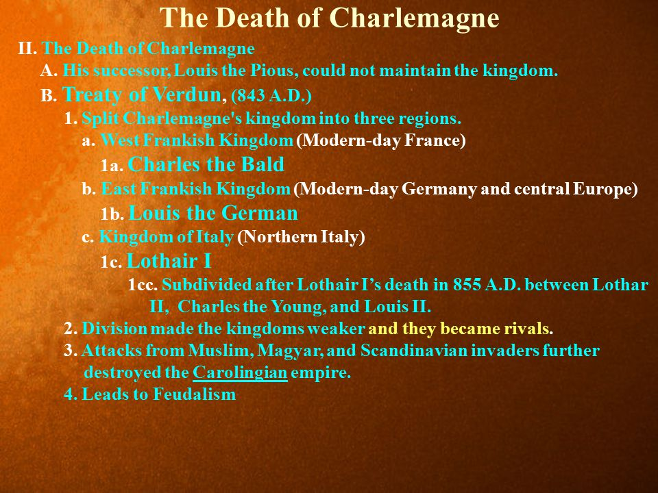 The Death of Charlemagne