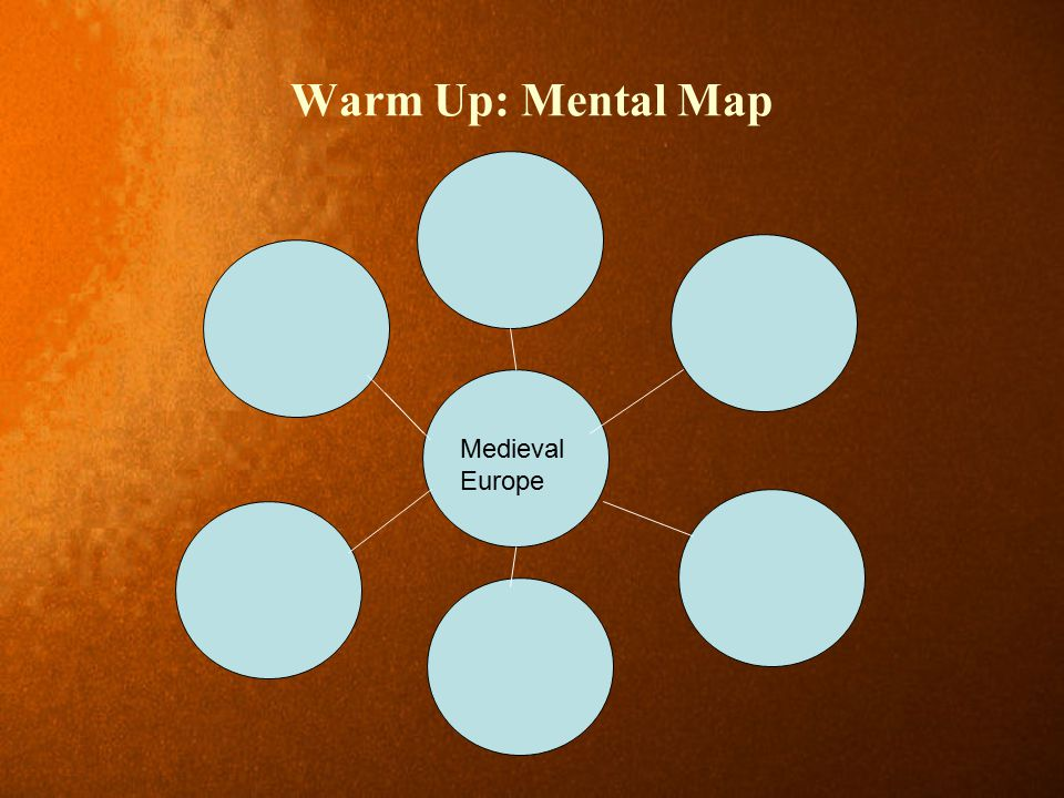 Warm Up: Mental Map Medieval Europe