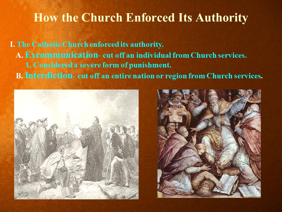 How the Church Enforced Its Authority