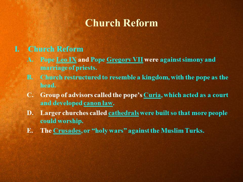 Church Reform Church Reform