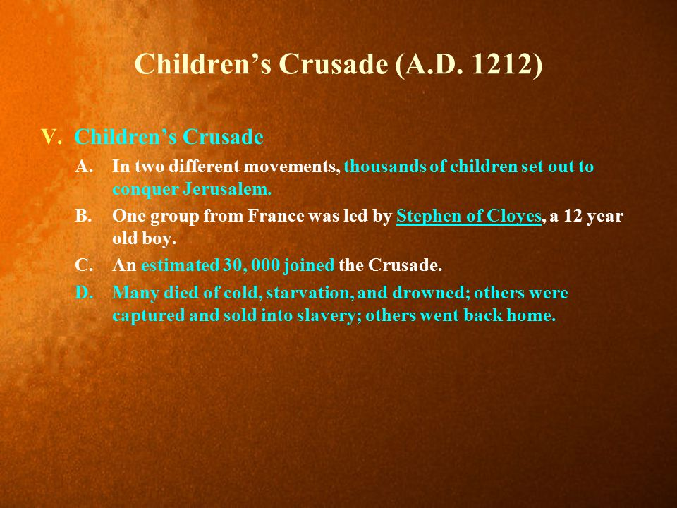 Children's Crusade (A.D. 1212)
