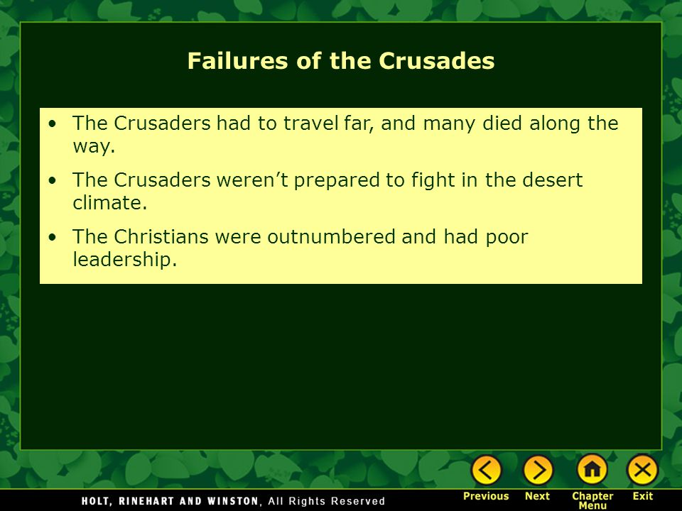 Failures of the Crusades