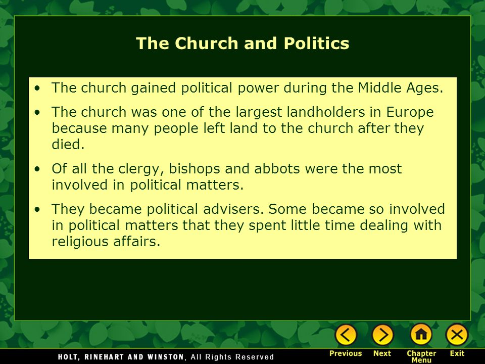 The Church and Politics