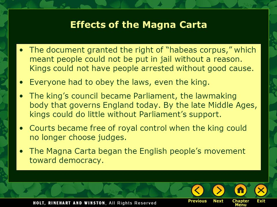 Effects of the Magna Carta