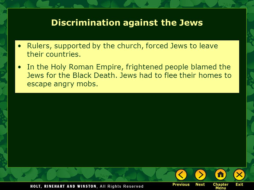 Discrimination against the Jews
