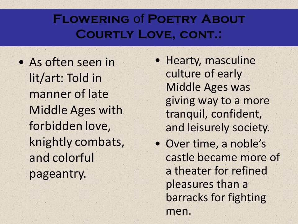 Flowering of Poetry About