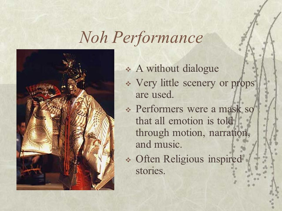 Noh Performance A without dialogue