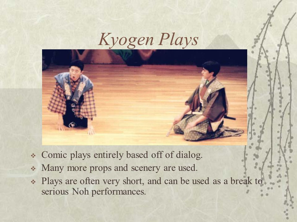 Kyogen Plays Comic plays entirely based off of dialog.