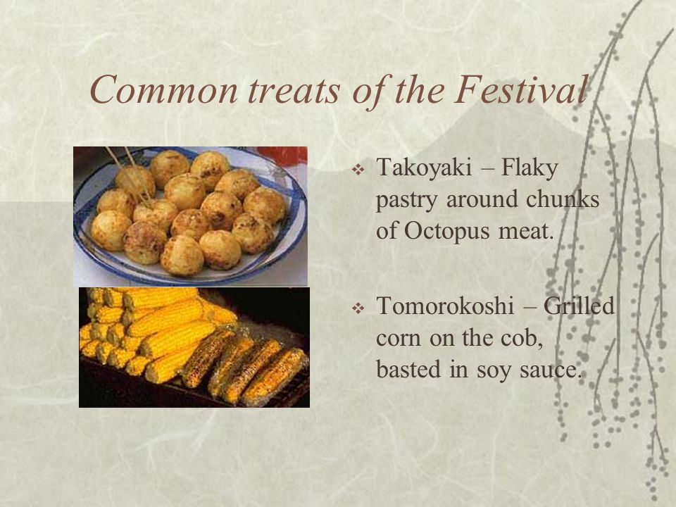 Common treats of the Festival