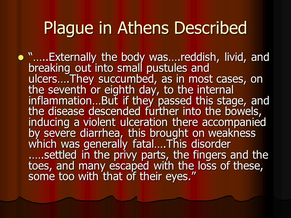 Plague in Athens Described