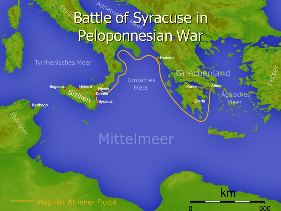 Battle of Syracuse in Peloponnesian War
