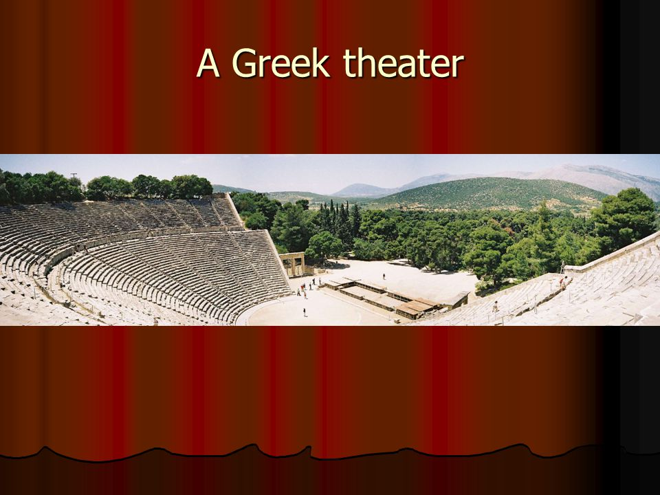 A Greek theater