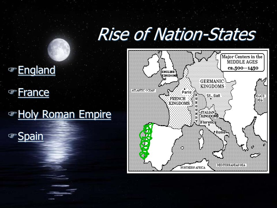 Rise of Nation-States England France Holy Roman Empire Spain