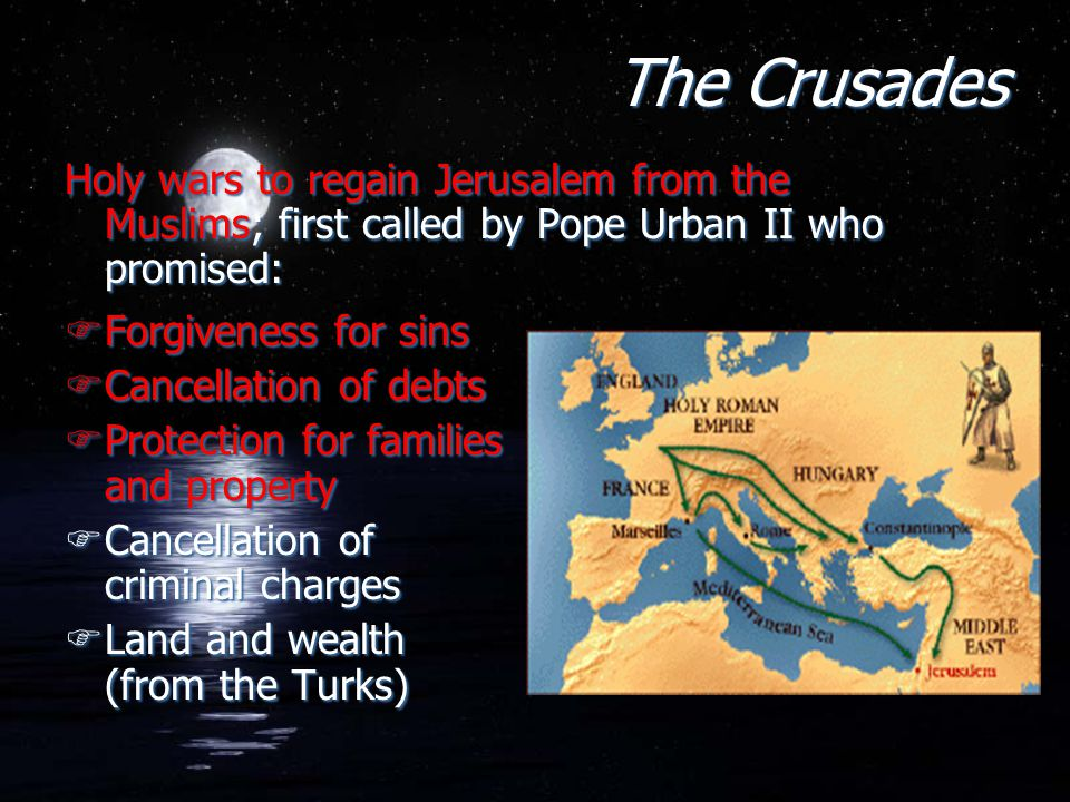 pope urban ii and his holy wars The crusades: really a holy war essay through pope urban ii and the roman catholic church's actions, their proposed motivations seem unclear.
