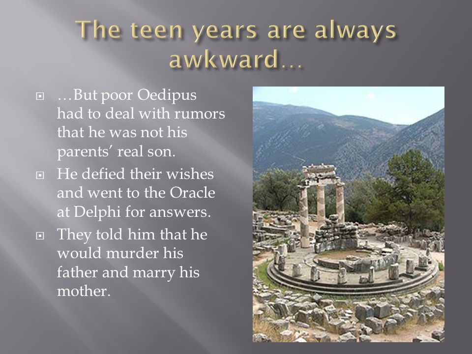The teen years are always awkward…