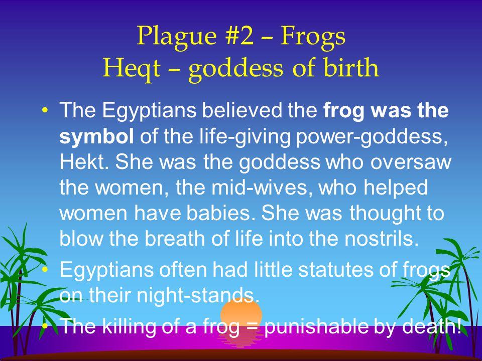 Plague #2 – Frogs Heqt – goddess of birth