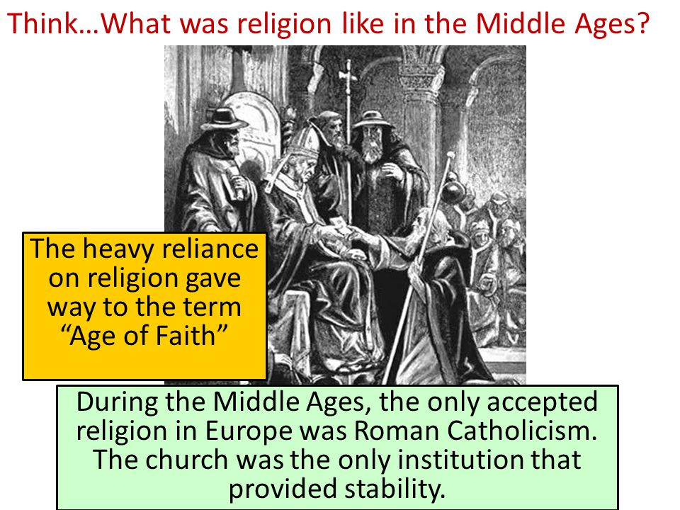 Think…What was religion like in the Middle Ages