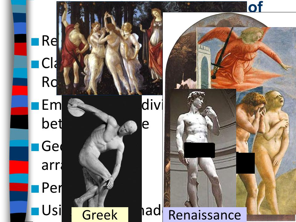 New styles & techniques of Renaissance art