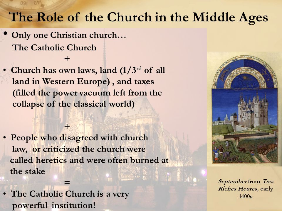 The Role of the Church in the Middle Ages