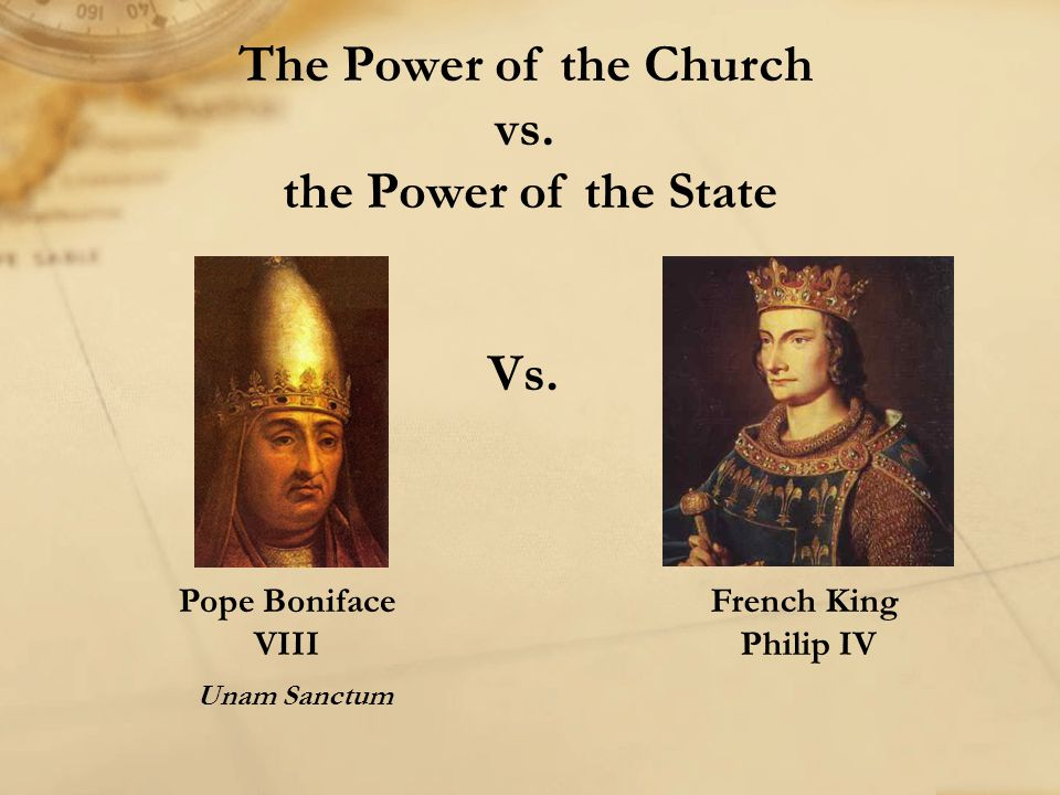 The Power of the Church vs. the Power of the State Vs.