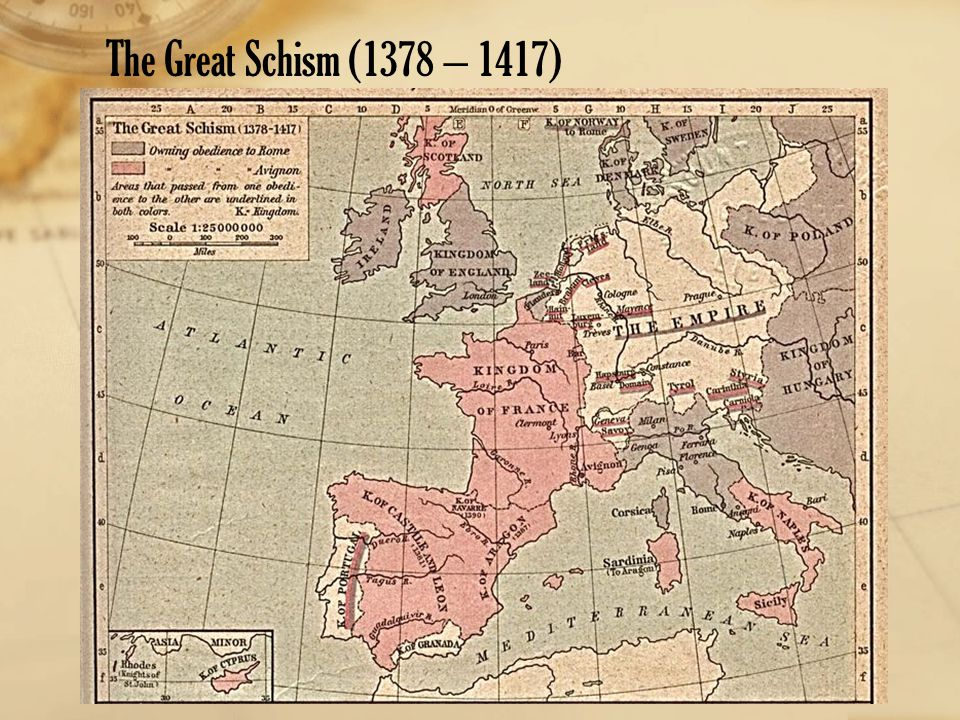 The Great Schism (1378 – 1417)
