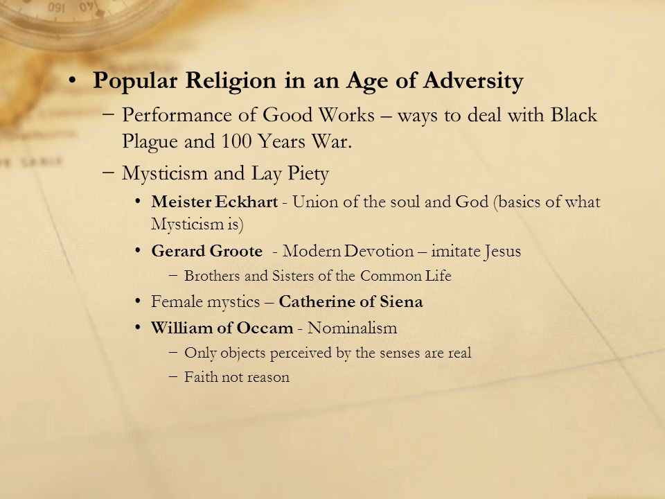 Popular Religion in an Age of Adversity