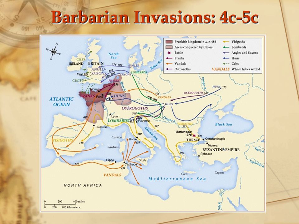 Barbarian Invasions: 4c-5c