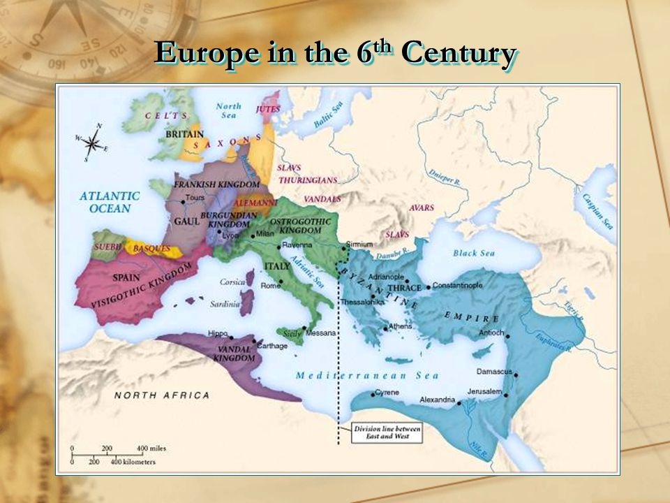 Europe in the 6th Century