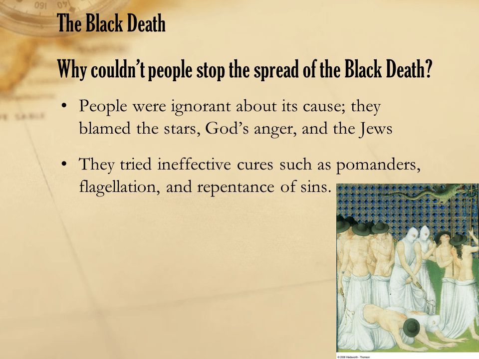 The Black Death Why couldn't people stop the spread of the Black Death