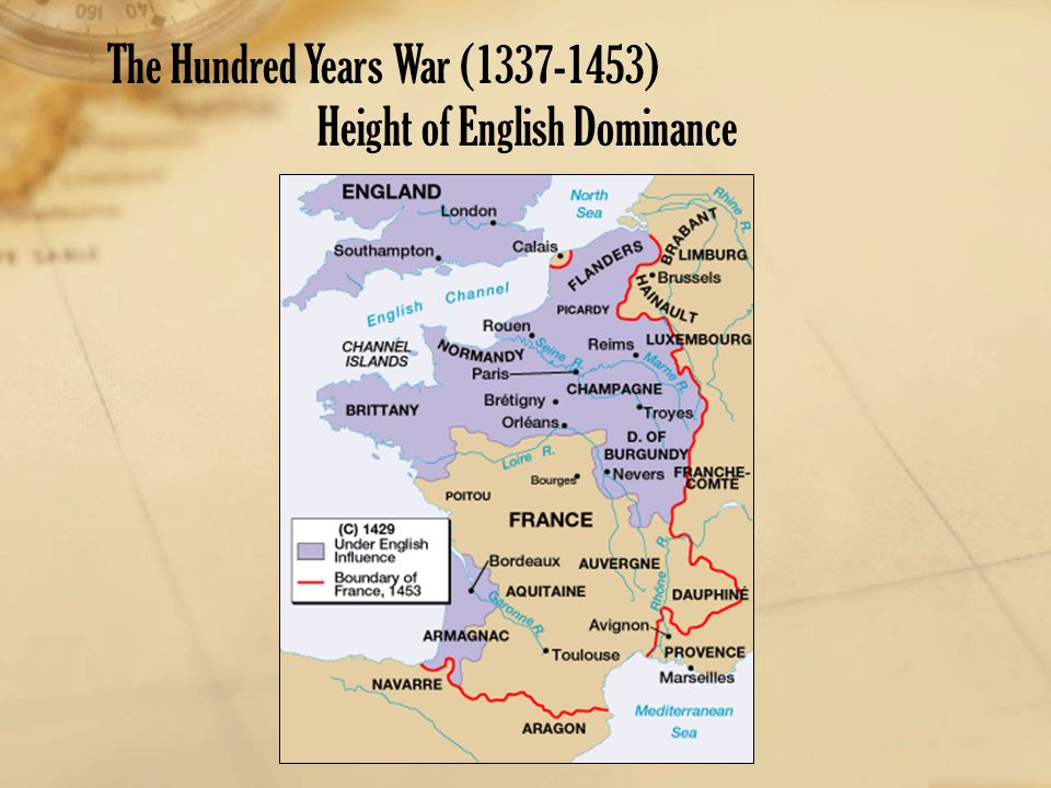 The Hundred Years War (1337-1453)