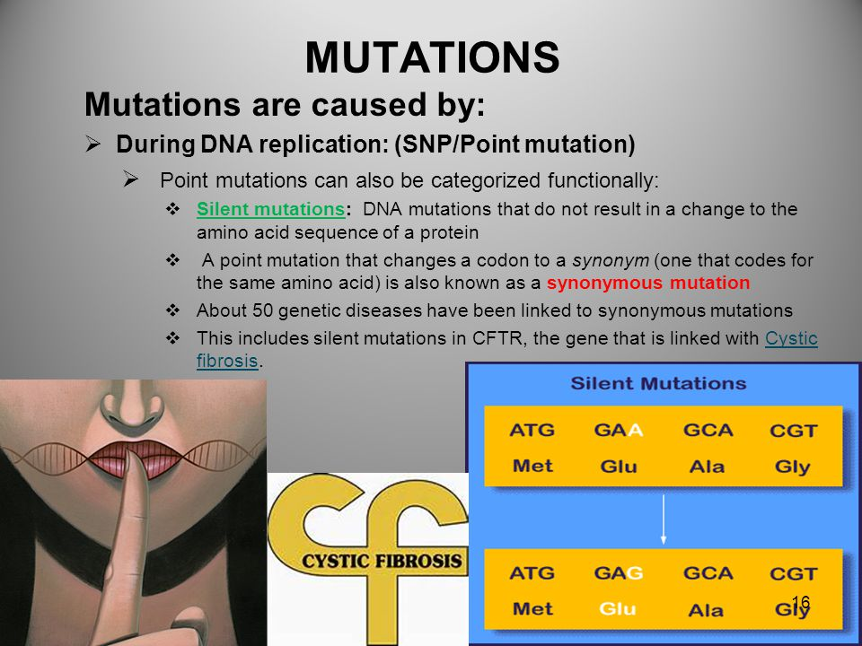 MUTATIONS Mutations are caused by: